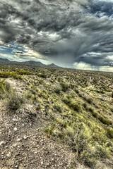 verga rain (JoelDeluxe) Tags: solitudecanyon trail bosquedelapachenwr nationalwildliferefuge nm newmexico socorro landscape panorama hdr cloudy skies hiking september 2018 joeldeluxe