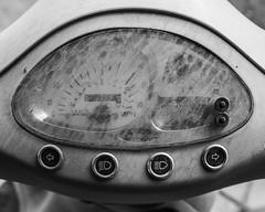 IMGP3519 (agianelo) Tags: kymco scooter instrument panel dirty glass monochrome bw bn blackandwhite
