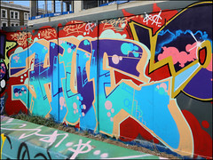 Hue (Alex Ellison) Tags: hue southlondon brixton skatepark halloffame urban graffiti graff boobs