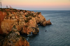 Ponta da Piedade (tonyfernandezz) Tags: portugal rockformation cliff arch ocean coast wave lighthouse algarve