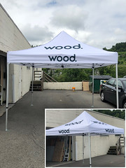 Wood (Sir Speedy Pittsburgh) Tags: tent tents outdoor outdoors exterior exteriors popup pop shelter white imprint imprints cover wood