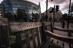 City of London Bench, London, UK (KSAG Photography) Tags: bench city urban street furniture london uk unitedkingdom england britain europe landscape nikon september 2018 capital road cityoflondon