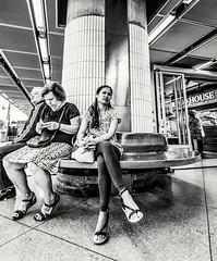 Thoughtful... (mikeback-streetphotography) Tags: streetstyle streetphotographer stockholm streetarteverywhere streetportrait streetphotographystreet streetlife streetphoto streetartistry streetphotography streetart streetphotographers station street monochromatic monochrome mono bnw blackwhite black blackandwhite blackandwhitephotography