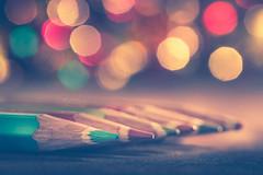 Let's paint! (Ro Cafe) Tags: colorful mm macro macromondays multicolor nikkor105mmf28 sonya7iii colorpencils pencils selectivefocus bokeh