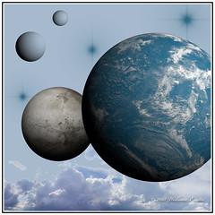 Imagination using Photoshop Elements - The Blue Planet (Bill E2011) Tags: photoshop elements imagination space blue planet computer graphics