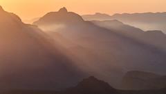 Grand Canyon Dawn (kieran_metcalfe) Tags: rays 80d ef70200mmf4l crepuscularrays landscape smoke warm nature dawn grandcanyonnationalpark haze mist canon grandcanyon delicate sunrise