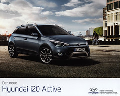 Der neue Hyundai i20 Active; 2016_1, car brochure (World Travel Library - collectorism) Tags: hyundai hyundaii20 2016 carbrochurefrontcover frontcover blue car brochures sales literature world travel library center worldtravellib auto automobil papers prospekt catalogue katalog vehicle transport wheels makes model automobile automotive motor motoring drive wagen photos photo photograph picture image collectible collectors ads fahrzeug korean cars 車 worldcars documents dokument broschyr esite catálogo folheto folleto брошюра broşür