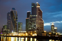 Moscow City at Night (ynaka29) Tags: russia moscow moscowcity mibc moscowinternationalbusinesscenter businesscenter city night longexposure