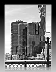 2018 Sydney: B&W Darling Harbour (dominotic) Tags: 2018 darlingharbour pyrmontbridge cocklebay urban history architecture blackandwhite banner sydneyskyline internationaltowerssydneybarangaroo maritime bw sydney nsw australia newsouthwales