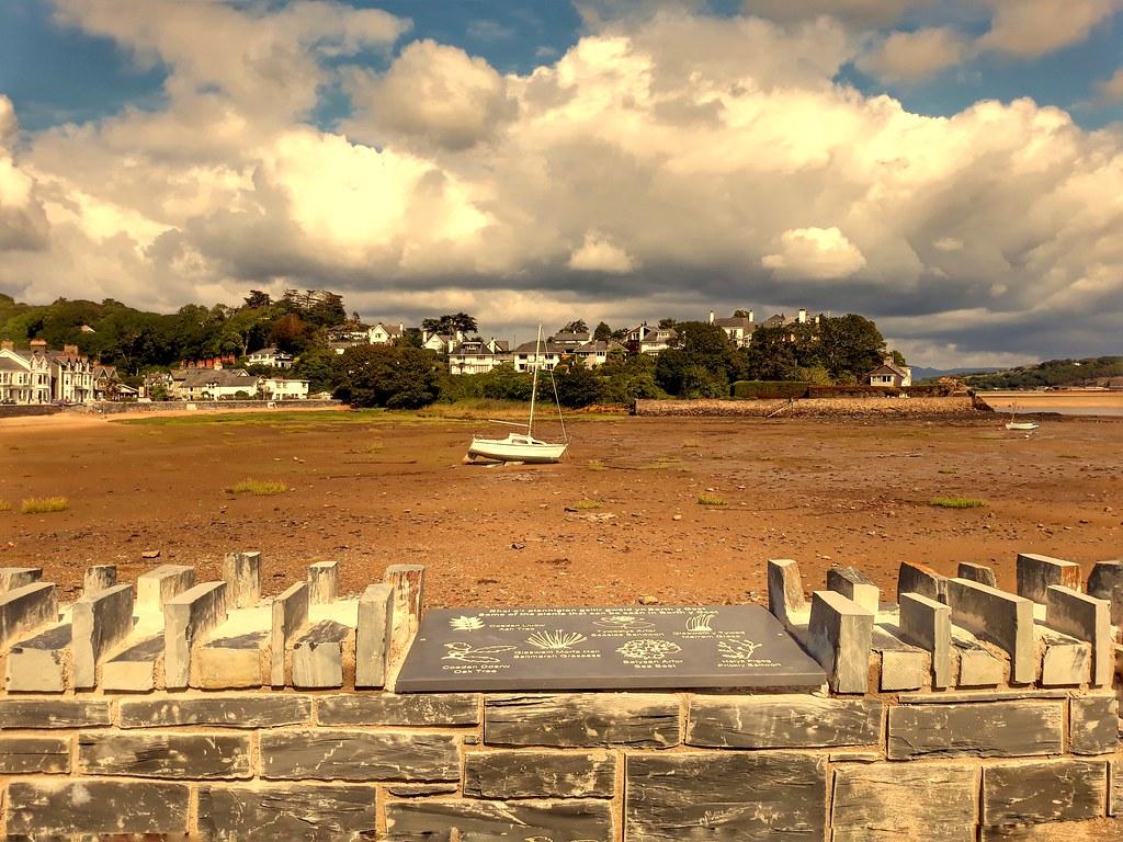 View of Borth y Gest beach.