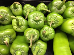 Stacked Hatch Chili Peppers (joncutrer) Tags: food produce vegetables cc0 royaltyfree cooking ingredients hatch peppers spicy green