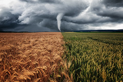 Wirbelwind (Gruenewiese86) Tags: 6d canon deutschland felder germany harz landschaft sommer sonnenuntergang wolken landscape tornado storm sturm wirbelsturm composing composite