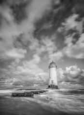 Step into the light (grbush) Tags: lighthouse pointofayrlighthouse talacre wales northwales beach shore shoreline coast coastline longexposure waves ocean sea water steps sonyilce7 tokinaatx116prodxaf1116mmf28 bw blackwhite monochrome