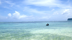 Mother and child and sea. (My wife and child) (mitsushiro-nakagawa) Tags: mother child sea my wife guam usa color