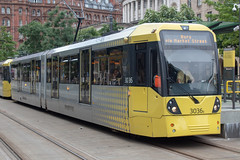 Manchester Metrolink 3036 (Mike McNiven) Tags: manchester metrolink tram lrv metro lightrail stpeterssquare bury altrincham interchange marketstreet