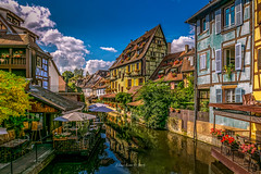 La Petite Venise 2018 (EBoss Fotografie) Tags: colmar france alsace vosges water canal house architecture colors sky clouds soe twop canon sun light reflection supershot