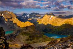 Panoramablick bei Sonnenaufgang im Verwallgebirge (angelofruhr) Tags: austria österreich alpen alps verwallgebirge sonnenaufgang sunrise bergseen verwall gipfel wanderung