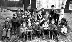 Class Photo (theirhistory) Tags: children kid boy girl school trousers jumper shoes wellies shirt teacher boots
