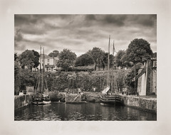 CHARLESTOWN WET DOCK (Barry Haines) Tags: charlestown cornwall wet plate old fashioned vintage print dock sony a7r2 a7rii 85mm gm lens palladium toned