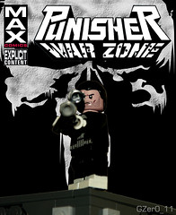 Punisher: War Zone Custom MAX Cover (GZer0_11) Tags: lego punisher war zone custom max cover comic skull logo frank castle