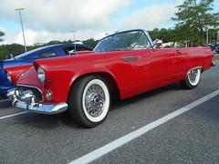 1955 Ford Thunderbird (splattergraphics) Tags: 1955 ford thunderbird carshow churchoftheholydonut burtonsvillemd