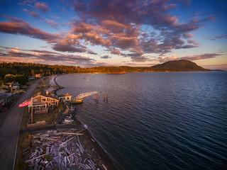 Lummi Island Sunset on Legoe Bay