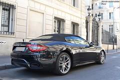 Maserati Grancabrio Sport 2018 (Monde-Auto Passion Photos) Tags: voiture vehicule auto automobile mase maserati grancabrio cabriolet convertible roadster spider sportive supercar noir black tilsitt france paris