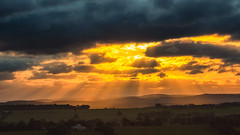 10 minutes from home (Chas56) Tags: ngc canon canon5dmkiii australia victoria craigieburn sun rays clouds storm hills