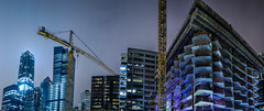 folsom bay tower construction panorama (pbo31) Tags: sanfrancisco california color night dark black nikon d810 september 2018 summer boury pbo31 fog mist financialdistrictsouth folsomstreet skyline city urban construction architecture contemporary crane panoramic large stitched panorama park tower 181 fremont