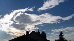 Clouds. (ALEKSANDR RYBAK) Tags: облака небо солнечный свет лучи храм церковь кресты купола крыши деревья погода сезон clouds sky solar shine beams temple church crosses domes roofs trees weather season