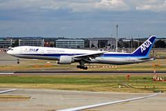 JA786A 2 Boeing 777-381ER ANA All Nippon Airways LHR 08SEP18 (Ken Fielding) Tags: ja786a boeing b777381er ana allnipponairways aircraft airplane airliner jet jetliner widebody