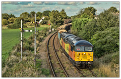 Cheshire Gridlock (david.hayes77) Tags: 56090 56113 class56 grid colas cheshire helsby 6j37 helsbyjunction logs freight cargo 2018 gridlock wood timber lowerrakelane semaphores signals colasfreight doubleheader