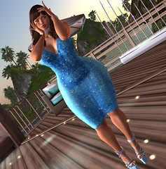 In My Feelings (Sultry ALLURE) Tags: chantelsatine chantel blue moda abc dress mermaid heels blog fashion