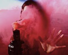 Experimenting with Colors: BigBadSerb Fashion (IngyJO) Tags: orange pink goldenhour bigbadserb serbian serbianmodel malemodel sunset portrait smoke smokephotography fashion cirilica kosovskibozuri smokebombs color albanyca eastbay landfill