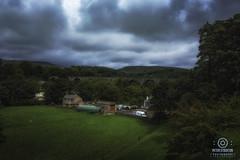 yorkshire (kapper22) Tags: landscape yorkshire outdoor green blue via duct bridge train farm house fence birds sky cloudy overcast gloomy