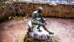 90-03 villa rufolo,I ravello garten skulp jüngl ag30-119 (ulrich kracke (many thanks for more than 1 Mill vi) Tags: i villarufolo amalfi jüngling ravello skulptur sundaylights