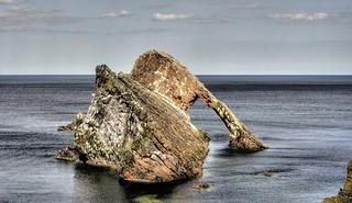 Bow Fiddle Rock, Moray, Scotland, UK