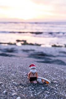 Santa on holidays