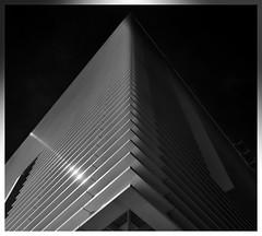 Strandhaus (T.Seifer : )) Tags: architecture blackandwhite blackwhite fx outside lines light hamburg hafencity modern geometry outdoors symmetry whiteandblack whiteblack view strandhaus cityscape