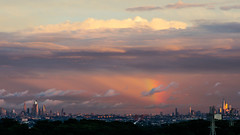 Clouds above Manhattan (Vjhaphotography) Tags: manhattan clouds weather rainbow landscape