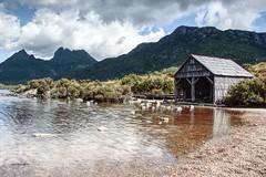 Dove Lake boatshed (taszee63) Tags: tasmania boatshed hdr 3xp cradlemountain mt water