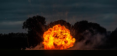 Flash Bang Wallop What A Picture (Nigel Jones QGPP) Tags: flash bang fire headcorn combinedops flame explosion