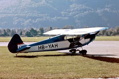 HB-YAH   Luton LA-5 Major [1] Locarno~HB 27/09/1984 (raybarber2) Tags: 1 airportdata cn1 flickr hbyah johnboardleycollection lszl planebase single slide swisscivil