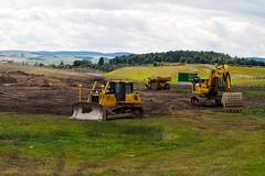 It's a Wrap. (HivizPhotography) Tags: komatsu pc490 d65wx bulldozer excavator adt volvo construction awpr aberdeen western scotland uk road