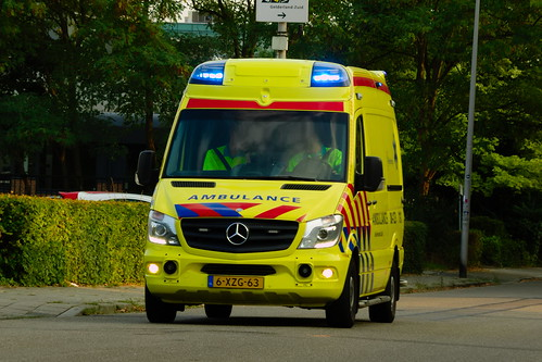 bc0796827f Dutch Ambulance underway to an emergency call in Nijmegen