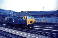 The first 'Hymek' (D)7000 has just arrived at Bristol Temple Meads on a service from Portsmouth Harbour. Date unknown but it would have been about 1968. It has been uncoupled from its train in preparation to going on shed. (mikul44171) Tags: hymek bristol templemeads d7000 7000