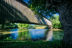 Super Span (tquist24) Tags: conestogariver hdr hunseckerroad hunseckersmillcoveredbridge lancastercounty nikon nikond5300 pennsylvania architecture bridge coveredbridge geotagged grass longexposure reflection reflections river rural sky tree trees water birdinhand unitedstates shadow sunlight shadows historic