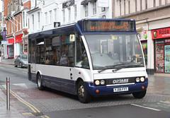 Torbay Mini Buses ( D J Watts ) . Paignton, Devon . YJ06FYT . Union Street , Torquay , Devon . Thursday 06th-September-2018 . (AndrewHA's) Tags: torquay devon bus torbay minibuses yj06fyt optare solo m780sl route 62 second hand tlc travel west bowling yorkshire chelston leisure services