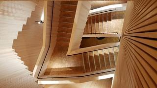 Think Corner wooden spiral staircase