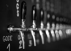 It's your choice! (tom.leuzi) Tags: 50mm bw canoneos6d dof sigma50mmf14art sigmaart slovenia slovenija slowenien blackandwhite blurred bokeh monochrome schwarzweiss lajbah ljubljana beer bar tap beertap